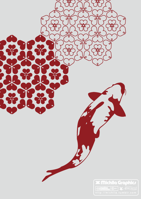 free vector KOI Fish Vector