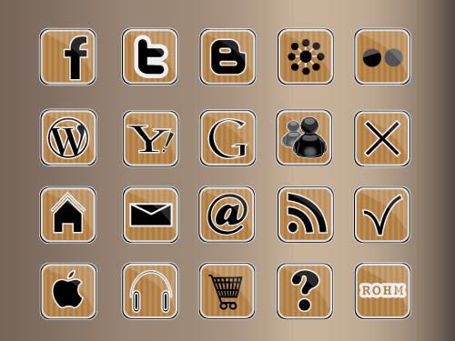 free vector Kraft icons