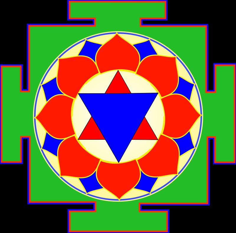 free vector Krishna Yantra