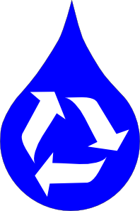 free vector Ksd Recycle Water Blue clip art