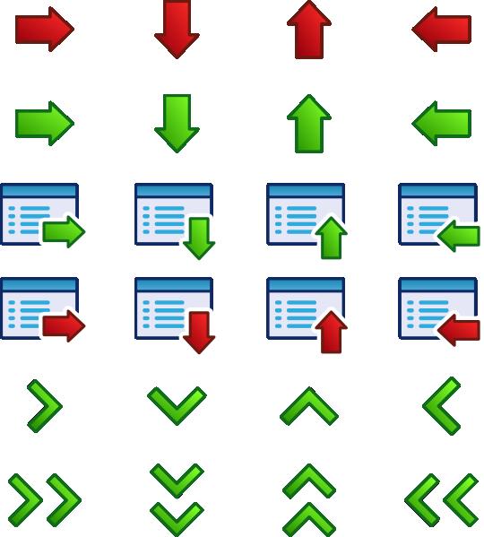 free vector Kuba Arrow Icons Set clip art