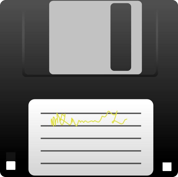 free vector Kuba Floppy Disk clip art