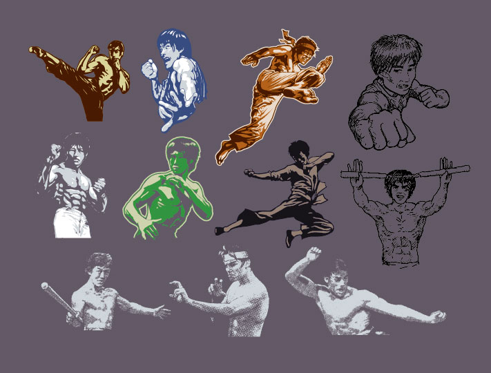 free vector Kung fu character series vector