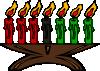 free vector Kwanzaa Kinara Candles clip art
