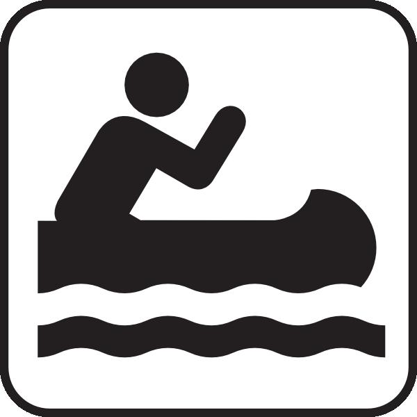 free vector Kyaking Map Sign clip art