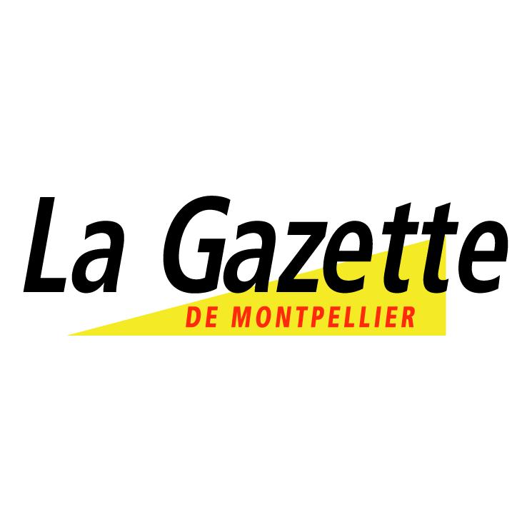 free vector La gazette de montpellier