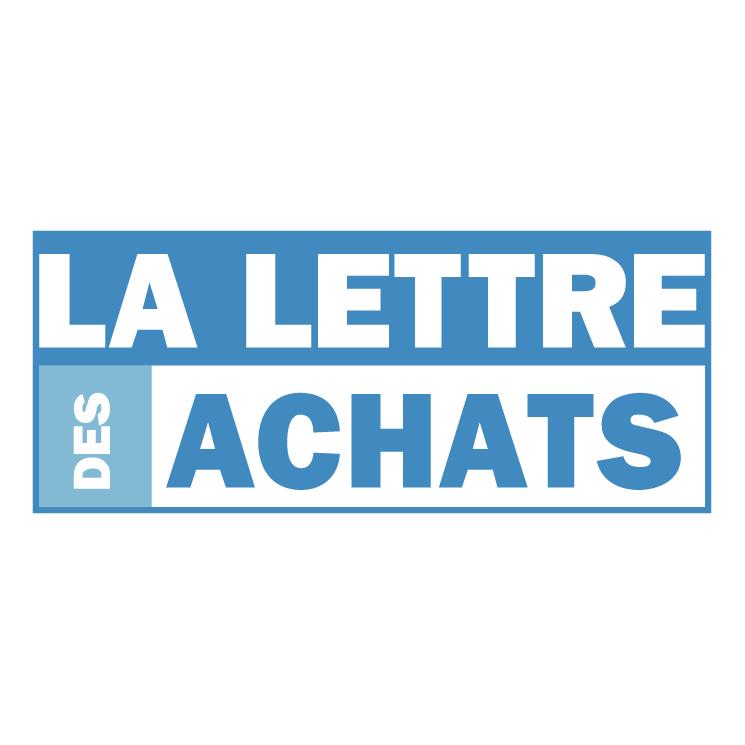 free vector La lettre des achats