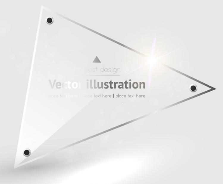 free vector Label background glass texture 03 vector