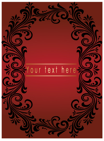 free vector Lace border vector material