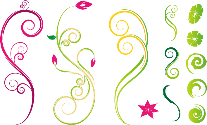 free vector Lace element vector