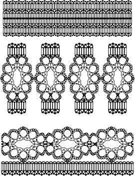 free vector Lace lace pattern vector 2