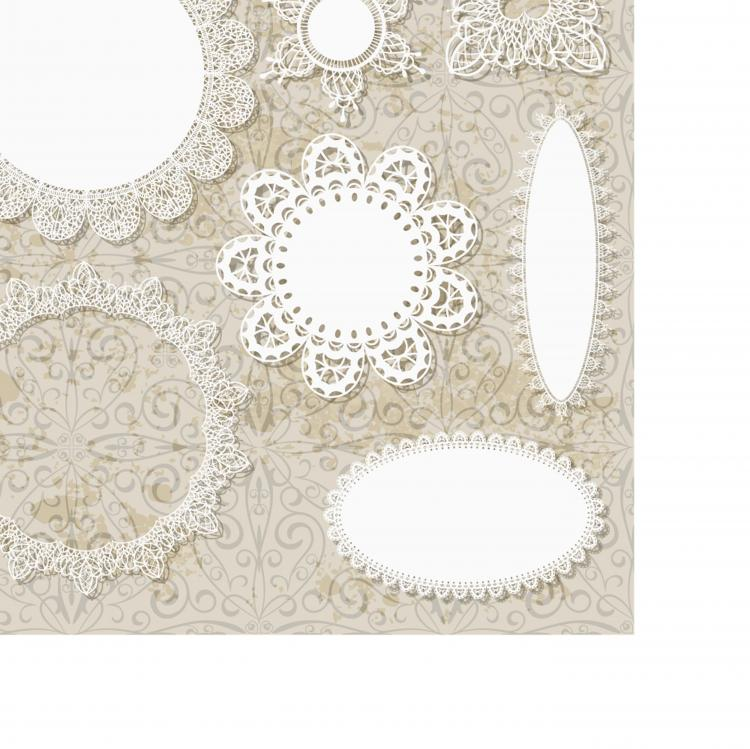 Lace pattern lace 02 vector Free Vector / 4Vector