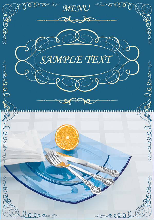 free vector Lace pattern vector tableware