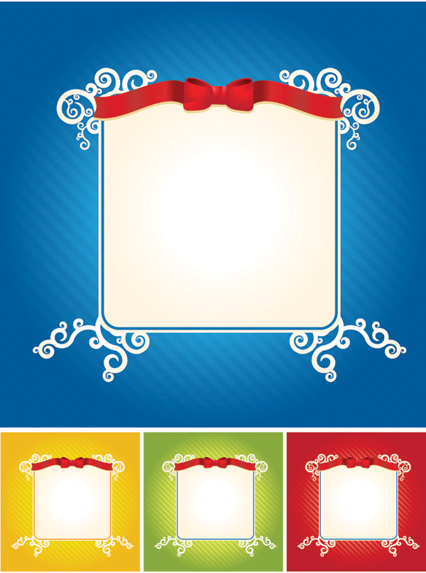 free vector Lace ribbon dynamic lines of the background vector