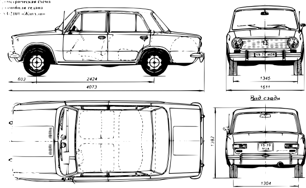free vector Lada Car clip art