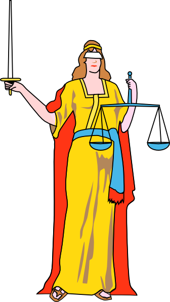 free vector Lady Blind Justice clip art