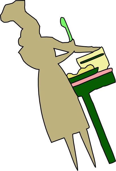 free vector Lady Cooking Food clip art