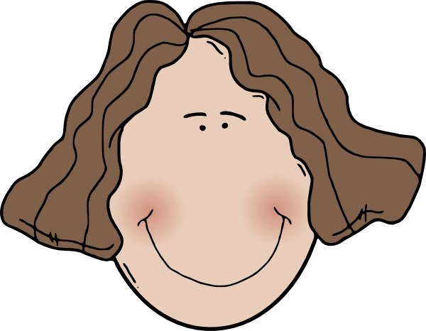 free vector Lady Face clip art