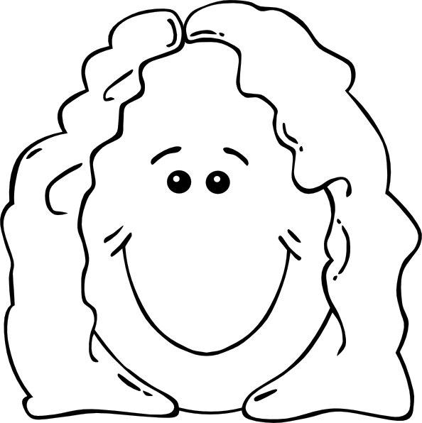 free vector Lady Face World Label Outline clip art