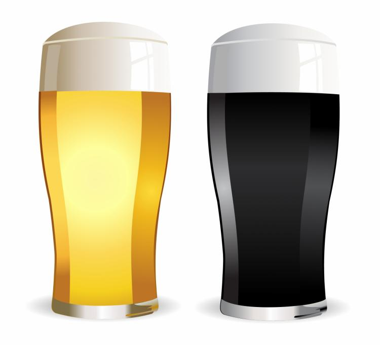 free vector Lager and stout