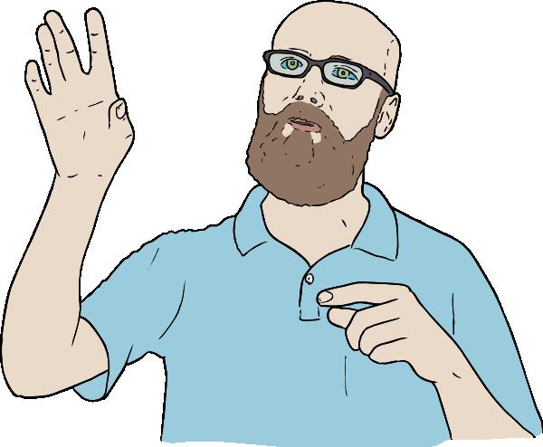free vector Lambert Hand Up clip art