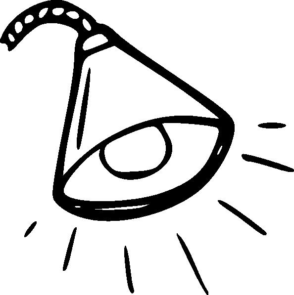 free vector Lamp Outline clip art