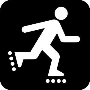 free vector Land Recreation Skates clip art
