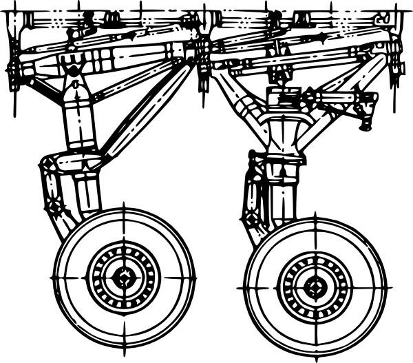 free vector Landing Gear  clip art
