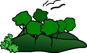 free vector Landscape Mountain Trees clip art