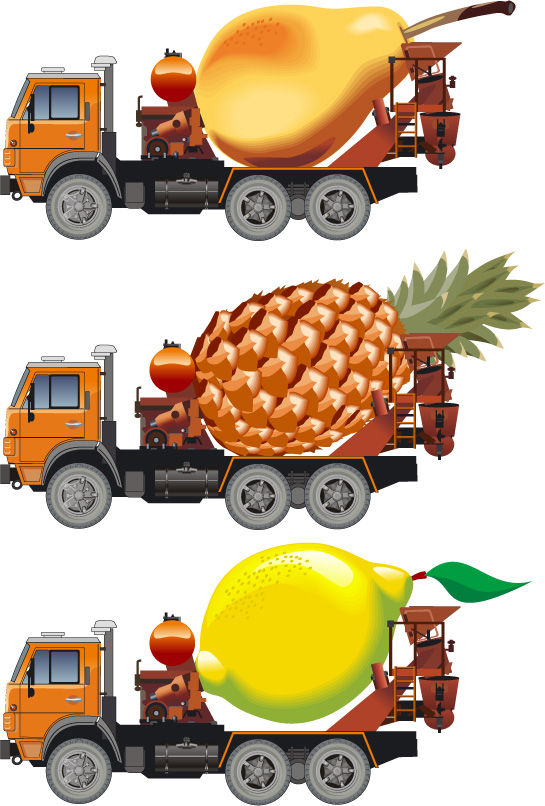 free vector Large automobile Vector material package