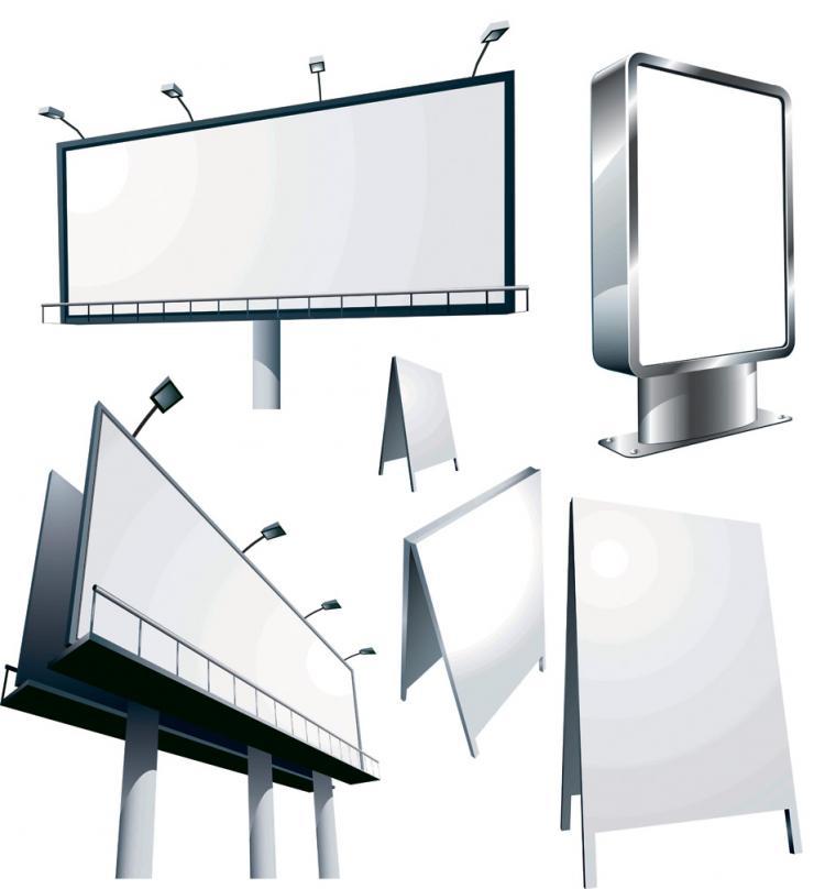 free vector Large outdoor billboards vector