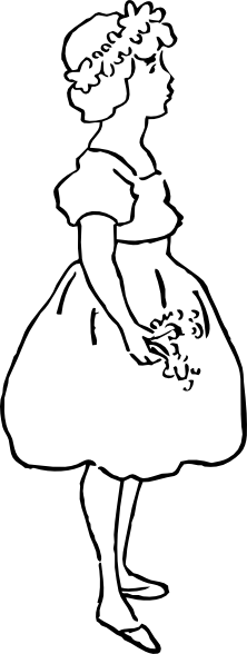 free vector Larkspur Girl clip art