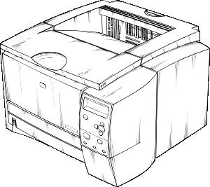 free vector Laser Printer clip art