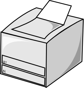 free vector Laser Printer clip art
