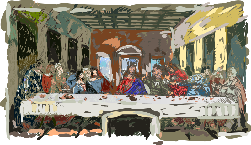 free vector Last Supper