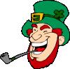 free vector Laughing Man Smoking Pipe clip art