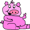 free vector Laughing Pig clip art