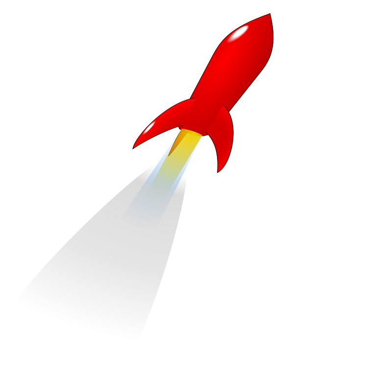 free vector Launching Red Rocket