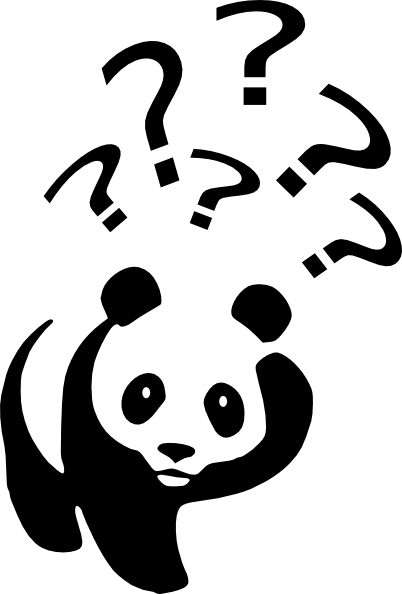 free vector Laurent Panda Point D Interrogation clip art