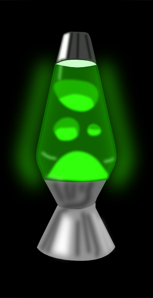 Lava Lamp Glowing Green Clip Art Free Vector 4vector