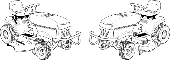Lawn Mower Clipart Black And White Lawn mower clip art is free