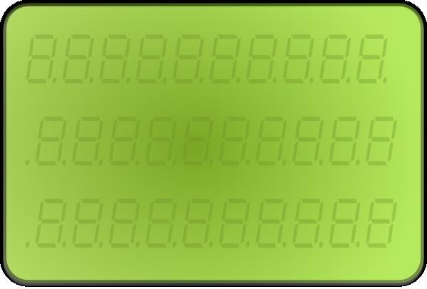 free vector Lcd Display Green clip art