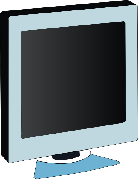 free vector Lcd Flat Panel Monitor clip art