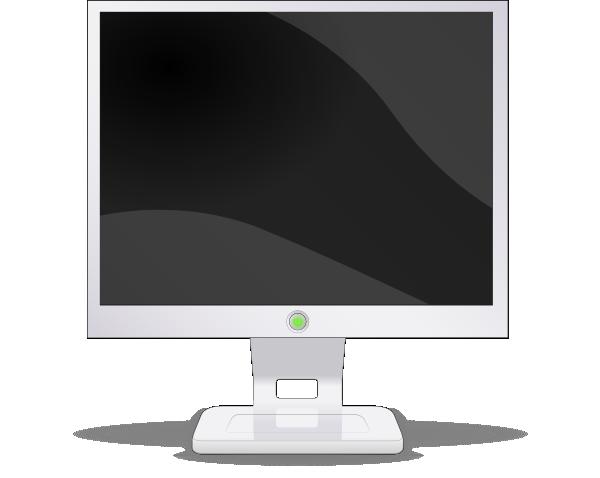Lcd Flat Screen Clip Art Free Vector 4vector