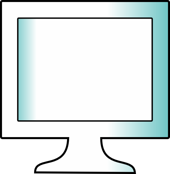 lcd monitor clipart - photo #23
