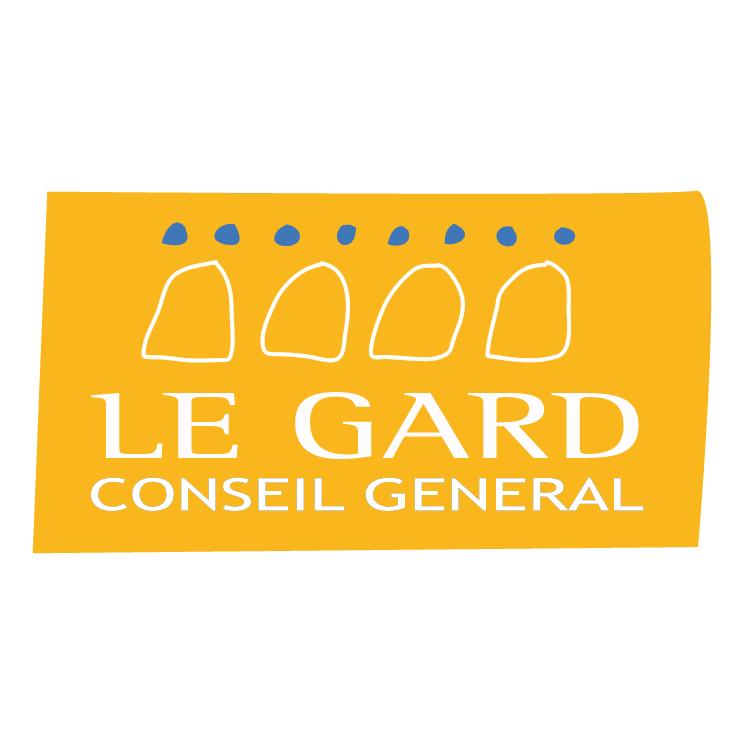 free vector Le gard conseil general