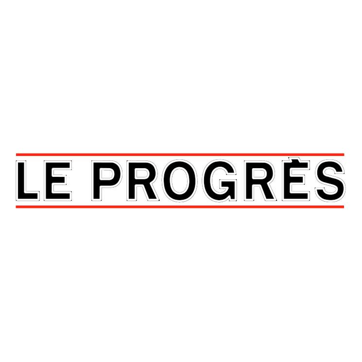 free vector Le progres