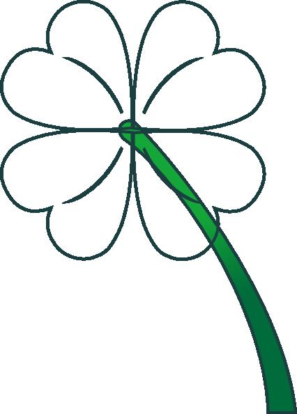 free vector Leaf Clover Gradient clip art
