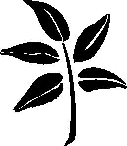 free vector Leaf Silhouette clip art
