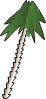 free vector Leaning Palm Tree clip art